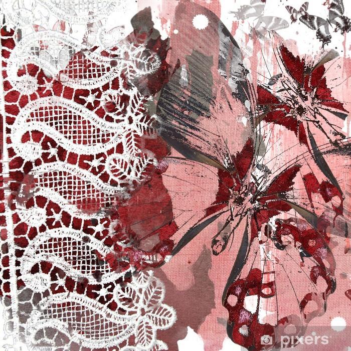 Pixerstick Aufkleber Grunge chaotisch Hintergrund für Sammelalbum - Rohstoffe