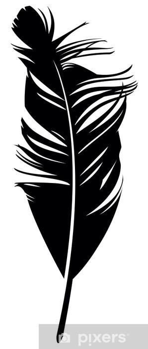 Papier peint vinyle Plume. Vector illustration - Art et création
