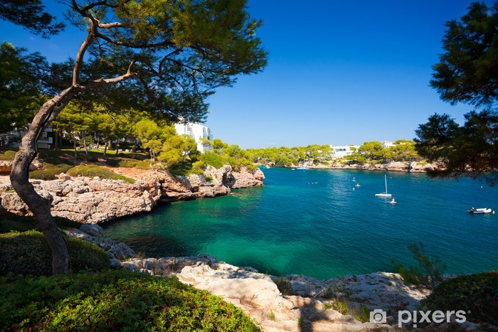 Vinyl Fotobehang Cala d'Or baai, eiland Mallorca, Spanje - Thema's