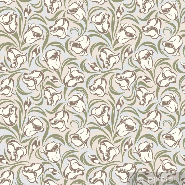 Poster Floral seamless pattern. Vector illustration -