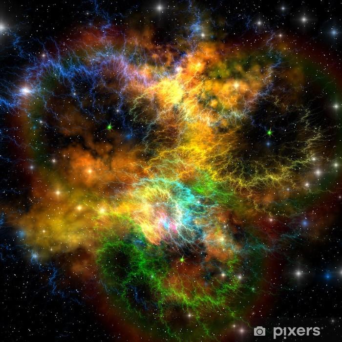 Ribbon Nebula Vinyl Wall Mural - Universe