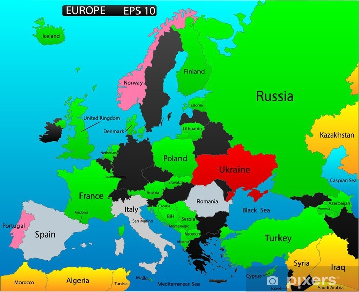 Europa Karta Lander