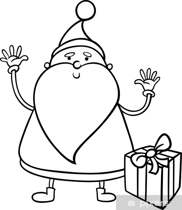Carta Da Parati Babbo Natale Da Colorare Cartone Animato Pixers