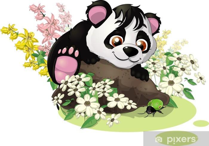 Fototapeta winylowa Panda i bug - Naklejki na ścianę
