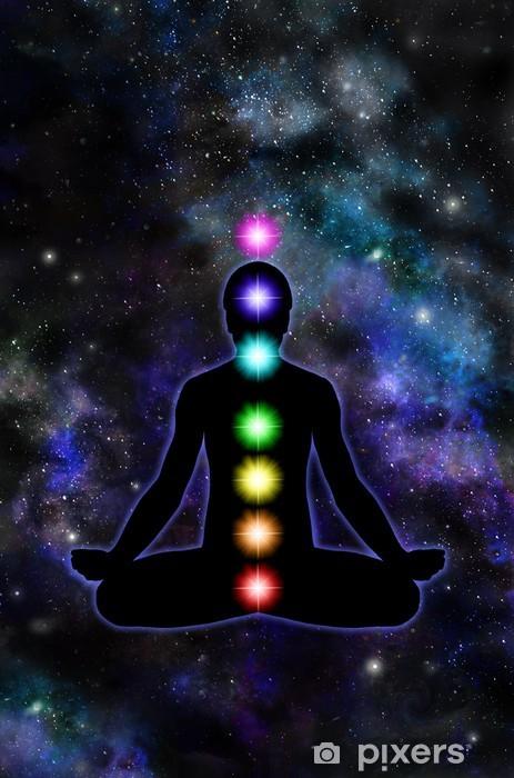 Papier peint vinyle Chakra Meditation sur fond de l'espace - Religion