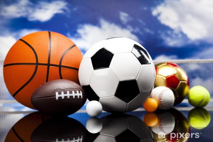 Pixerstick-klistremerke Sport, mange baller og ting - Basketball