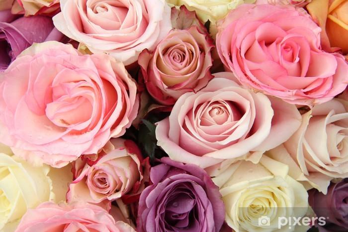 Sticker Pixerstick Fleurs de mariée dans les tons pastel - Célébrations
