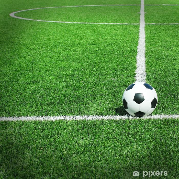 Fototapete Fussball Fussballplatz Stadion Gras Linie Ball Hintergrund