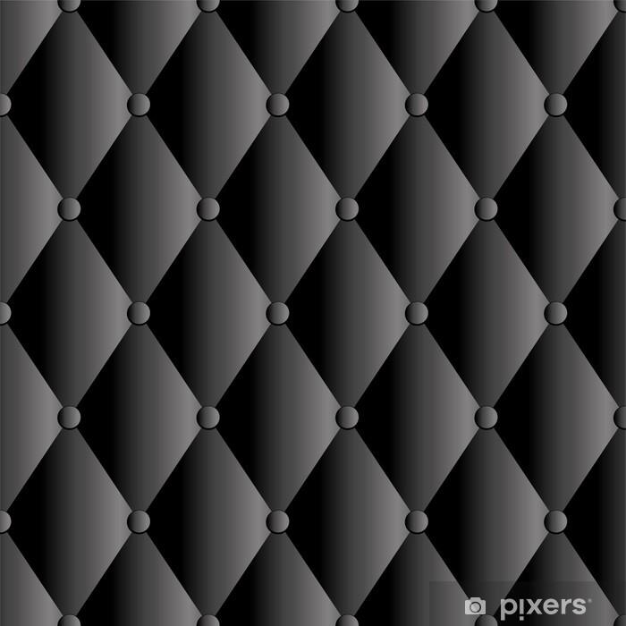 Pixerstick Sticker Vector zwarte lederen bekleding achtergrond - Achtergrond