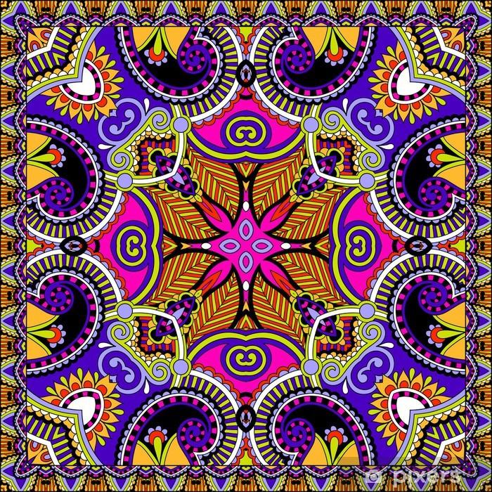 Poster Tradizionale ornamento floreale paisley bandana. - Stili
