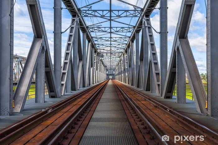 Naklejka Pixerstick Zabytkowy most kolejowy w Tczewie, Polska - Style