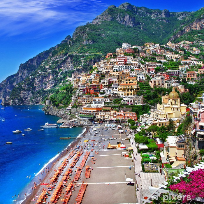 Vinilo Pixerstick Italia escénica - Positano - Temas