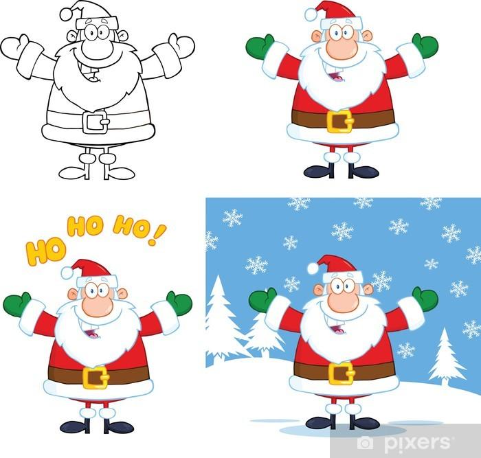 Imagenes De Papa Noel Animado.Vinilo Papa Noel Personajes De Dibujos Animados Set Collection Pixerstick