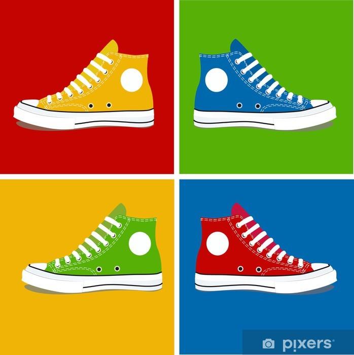 Naklejka Pixerstick BUTY kolory 2 - Moda