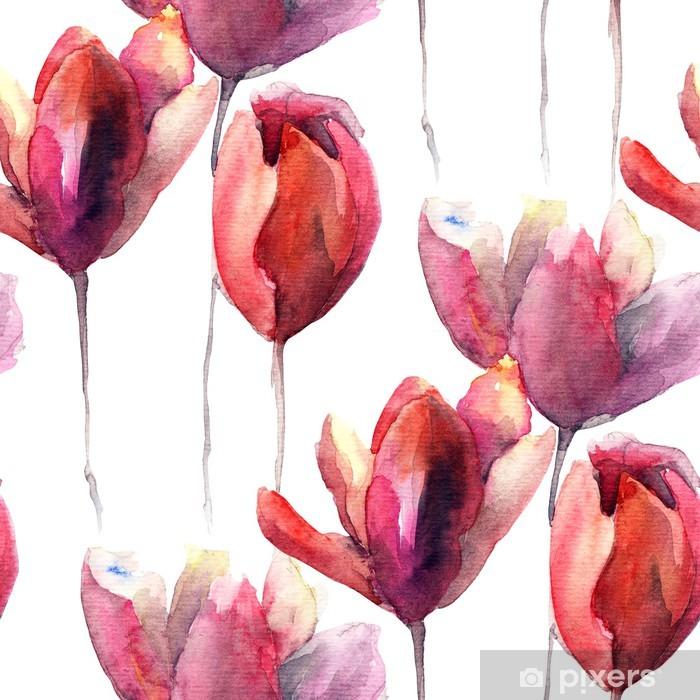 Fototapeta winylowa Bez szwu tapety z kwiatów Tulipany - Przeznaczenia