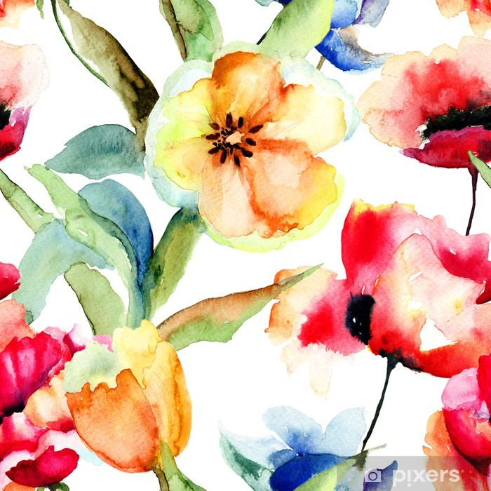 tapet blomster