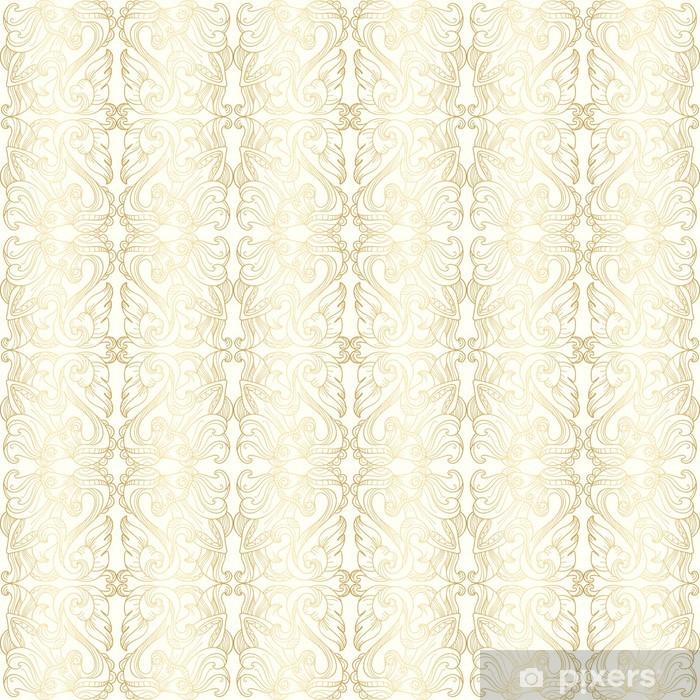 Papier peint Blanc de luxe fond d'écran transparent à motif floral or • Pixers® - Nous vivons ...