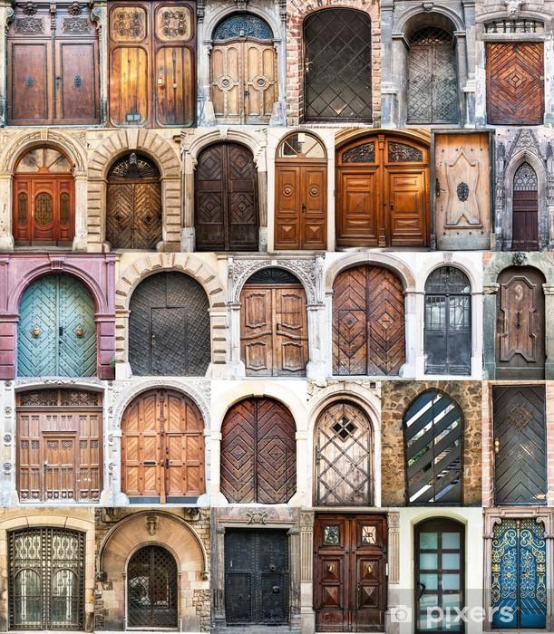 Fotomural Estándar Collage de fotos de las puertas viejas - Ciudades europeas