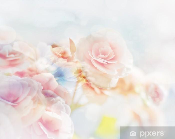 Fototapeta winylowa Romantic Roses w stylu vintage - Tematy