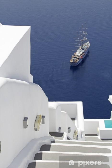 Fototapeta winylowa Santorini Villa - Europa