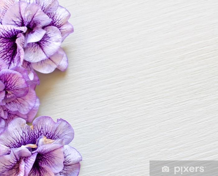 Sticker Pixerstick Lila blütendekor - Arrière plans