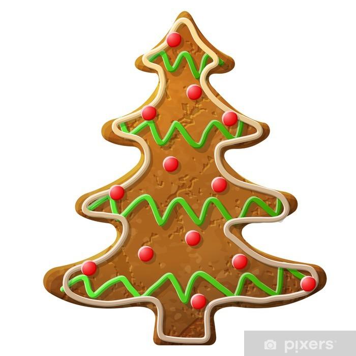 Vinylová fototapeta Perník vánoční strom zdobí barevné polevě - Vinylová fototapeta