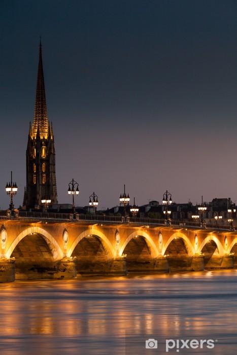 Papier peint vinyle Pont de pierre, Bordeaux 2 - Europe