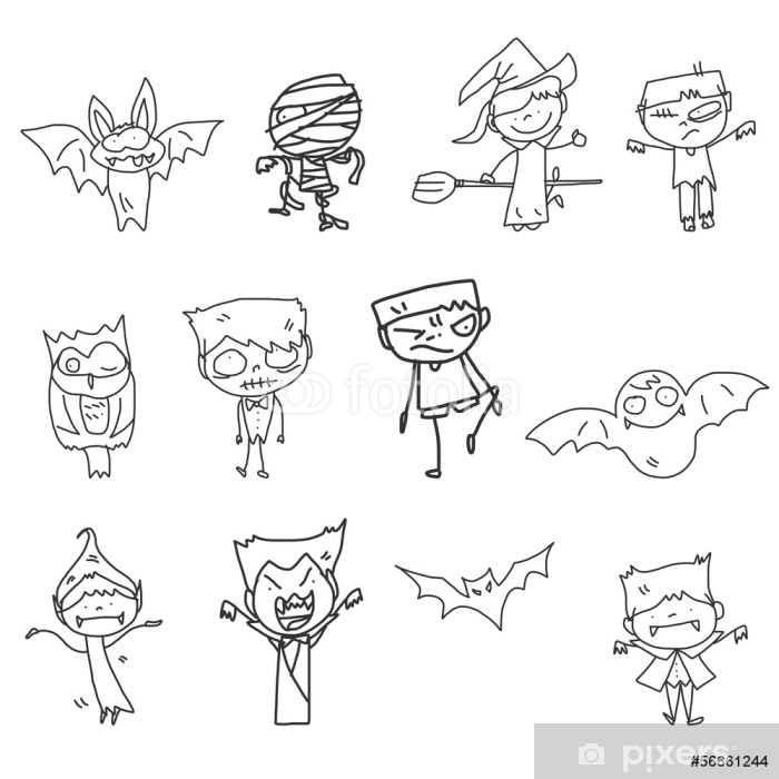 Fototapeta Rucni Kresba Karikatura Halloween Pixers Zijeme Pro