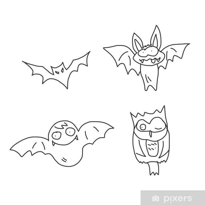 Tekenen En Zo Halloween.Fotobehang Vinyl Cartoon Hand Tekenen Halloween