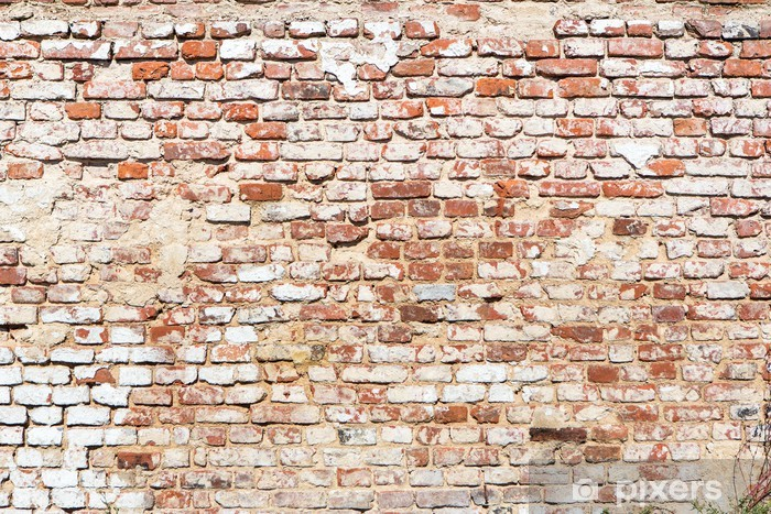 brick wall with vintage look Pixerstick Sticker - Themes