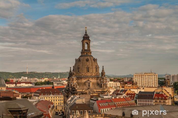 Papier peint vinyle Frauenkirche de Dresde, Allemagne - Europe