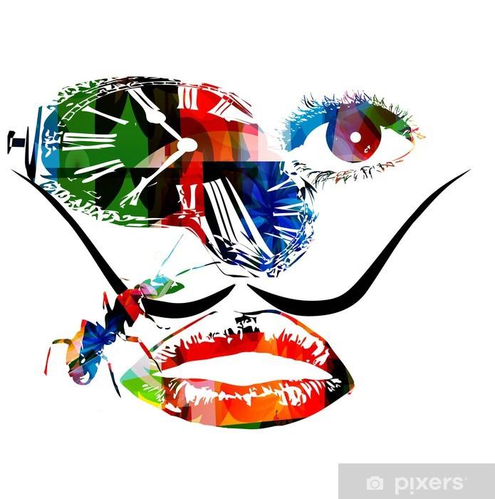 Fototapeta winylowa Salvador Dali inspirowane grafika wektorowa - Abstrakcja