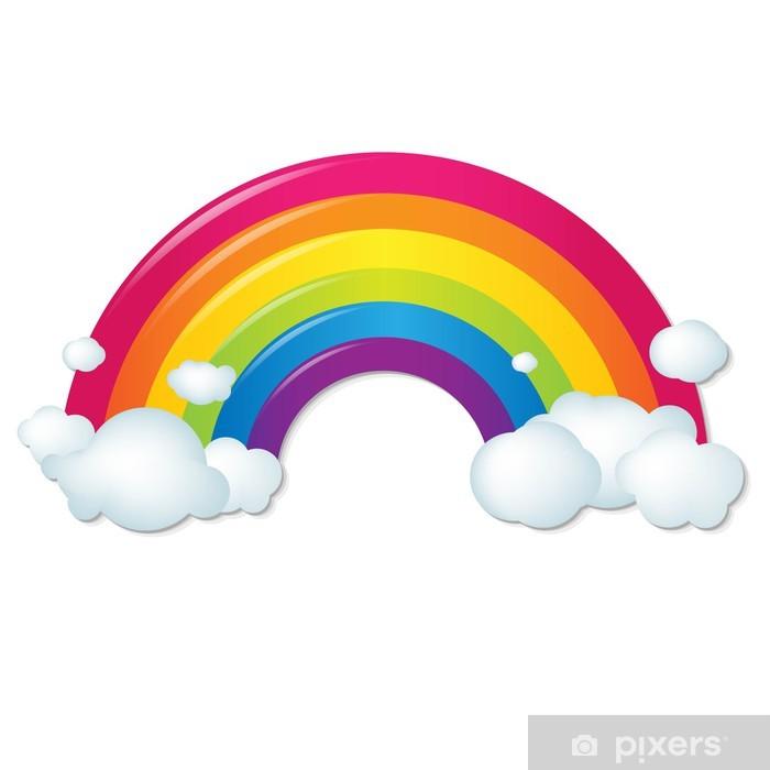 Plakat Kolor tęczy z chmury - Naklejki na ścianę