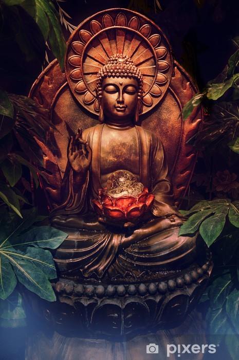 Papier peint vinyle Golden buddha statue - Styles