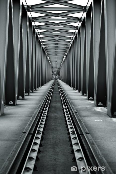 Vinilo para Nevera Puente del ferrocarril -
