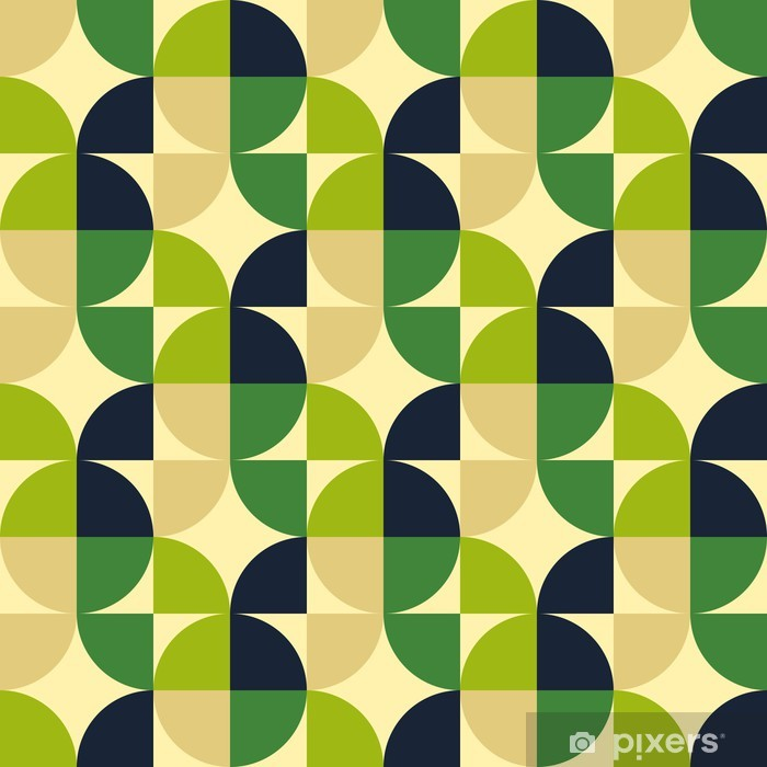 Retro abstract seamless pattern Vinyl Wall Mural - Textures