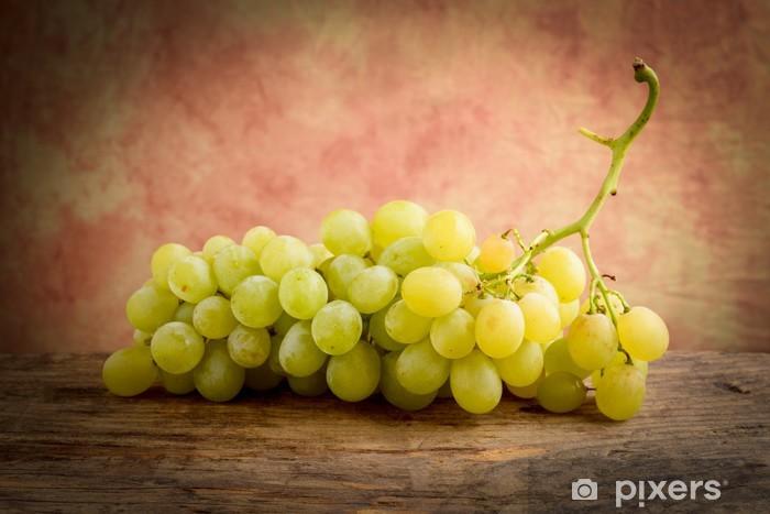 Vinylová fototapeta Bílé hroznové - uva bianca - Vinylová fototapeta