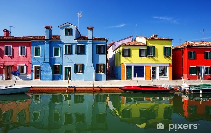 Fotomural Estándar Casas multicolores de la isla de Burano. Venecia. Italia. - Ciudades europeas