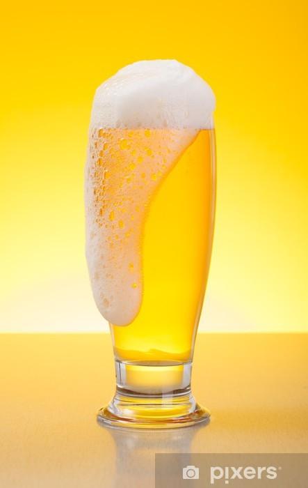 Naklejka Pixerstick Przepełnione blady piwa lager - Alkohol