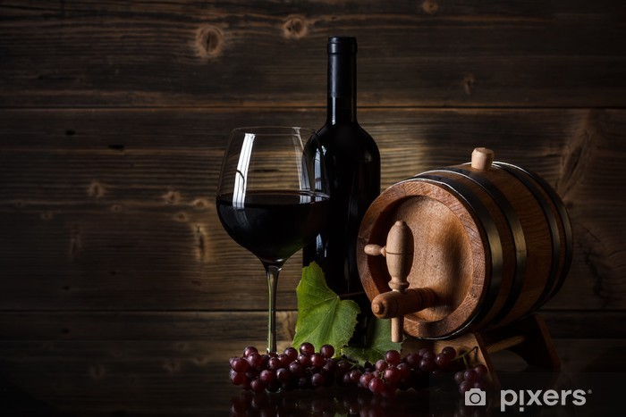 Red wine Vinyl Wall Mural - Themes