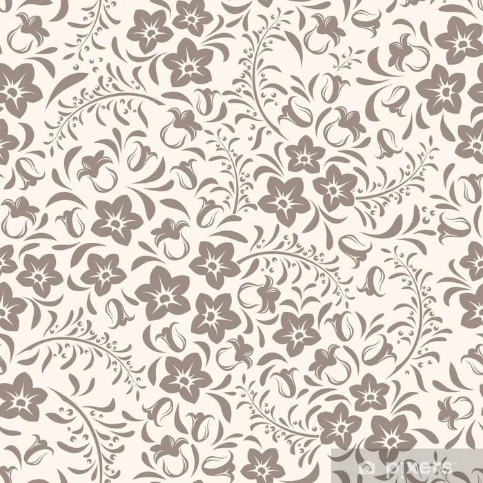 Seamless Vintage Floral Pattern. Vector Illustration. Pixerstick Sticker    Textures
