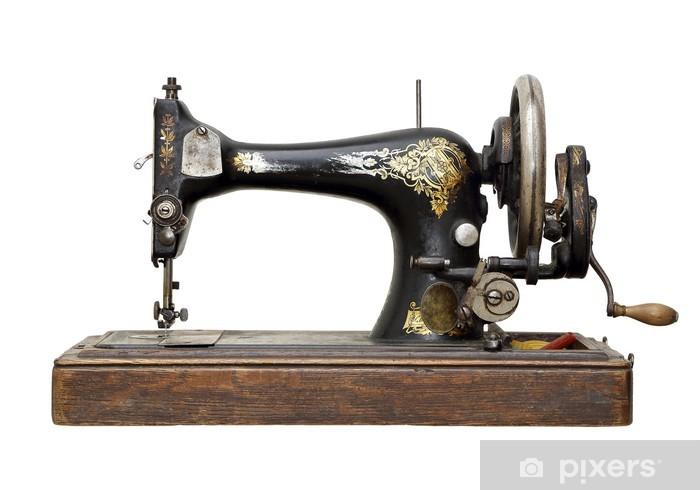 Naklejka Pixerstick Antyk maszyna do szycia - Przemysł ciężki