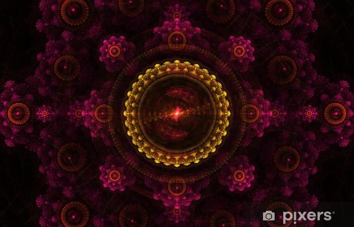 Sticker Pixerstick Fond fractal - Arrière plans