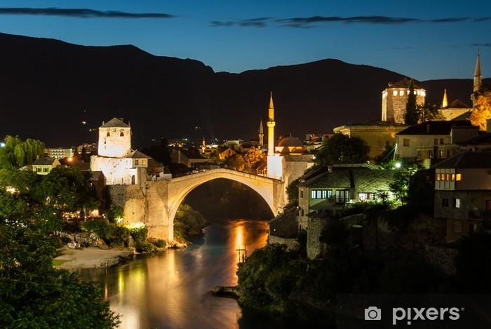 Nálepka Pixerstick Starý most v Mostaru v Bosně a Hercegovině - Evropa