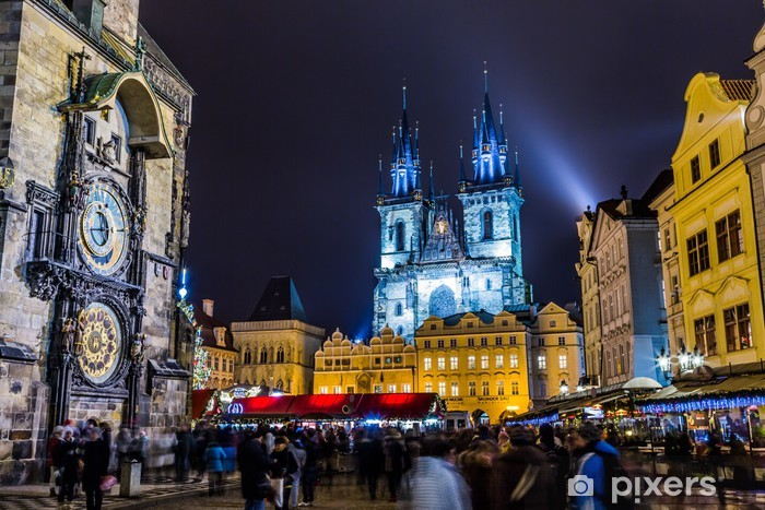 Fotomural Estándar Reloj astronómico, Praga, República Checa - Praga