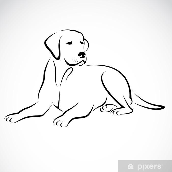 Vinilo Vector De Imagen De Un Perro Labrador Pixerstick
