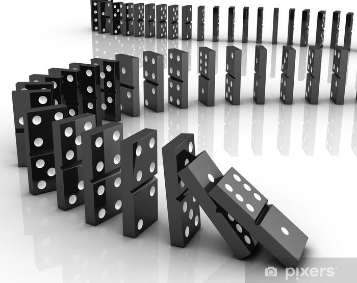 Dominoes falling Sticker • Pixers® • We live to change