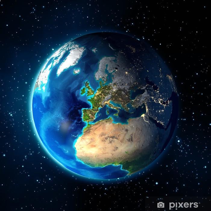 Papier peint vinyle La terre dans l'espace - Univers fond - Europe - Terre
