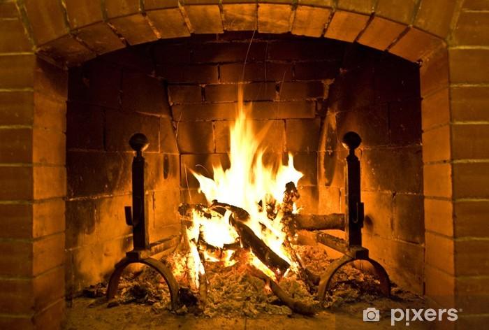 Vinil Duvar Resmi Camino / yangın yeri -