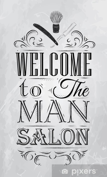 Fototapeta winylowa Plakat Barbershop zapraszamy do salonu mężczyzna w stylu retro - Przeznaczenia